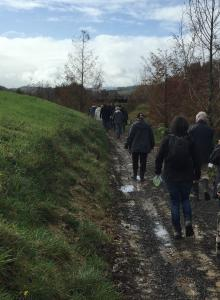 Clevedon locals ramble on trails at Hololio Farm